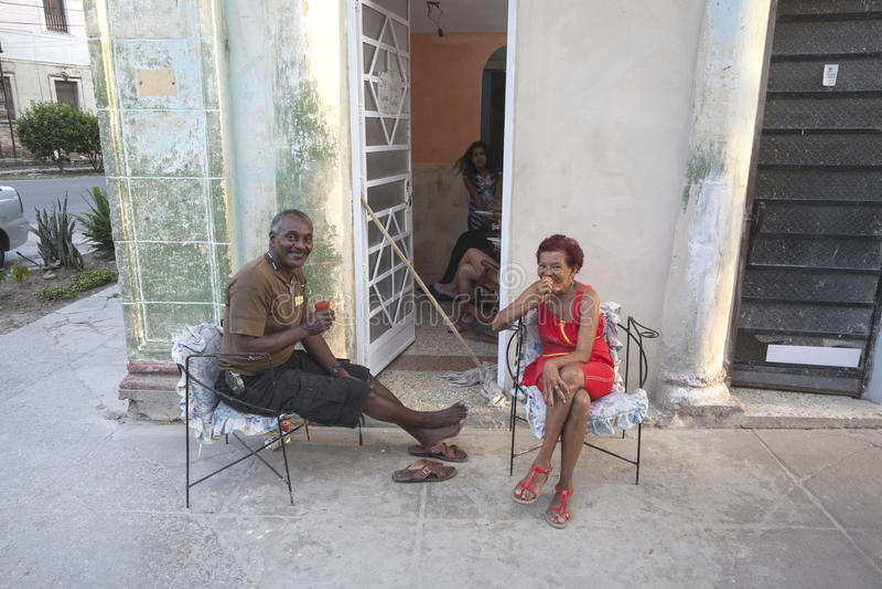 Kubańska para obrazy royalty free