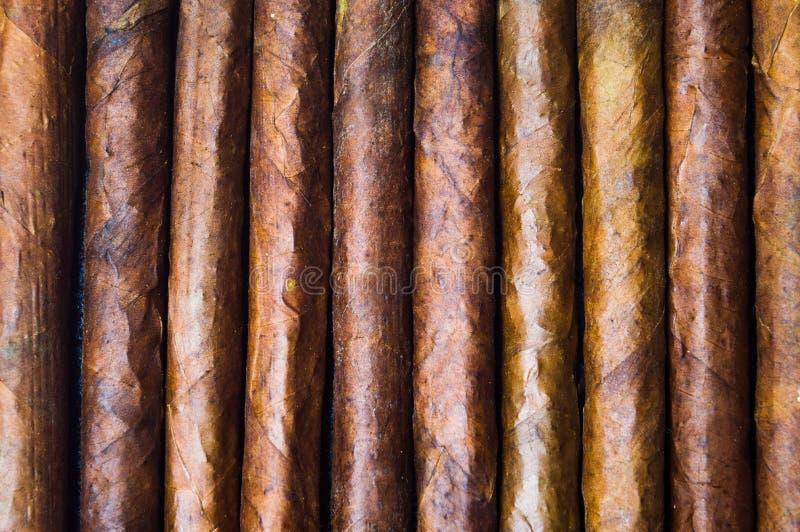 Kubański cygara tła tytoniu wzór zdjęcia stock
