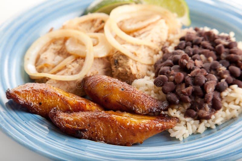 kubański jedzenie smażący plaintains słodcy obraz stock