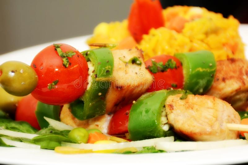 Kubański jedzenie z Brillants kolorami zdjęcie stock