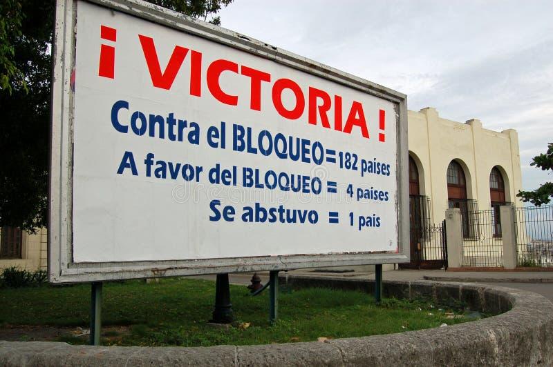 Kuba-Blockadenabstimmungsplakat stockbild