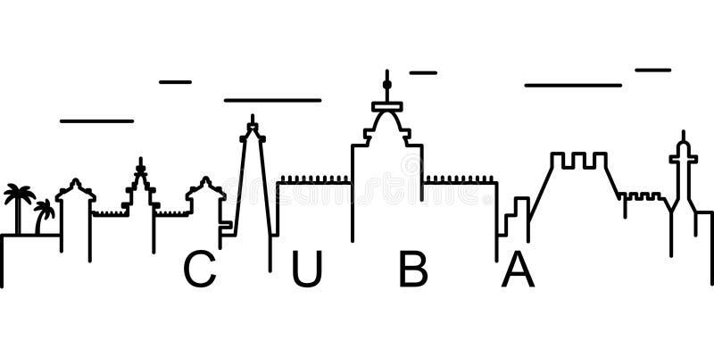 Kuba-Entwurfsikone Kann für Netz, Logo, mobiler App, UI, UX verwendet werden stock abbildung