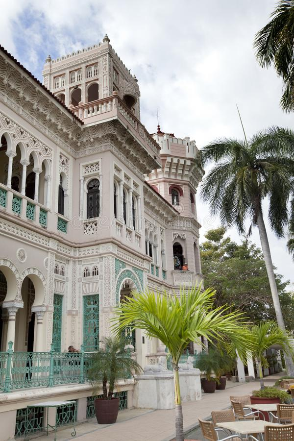 KUBA 3. FEBRUAR 2013: Valle-Palast Palacio De Valle in Cienfuegos, Kuba lizenzfreies stockbild