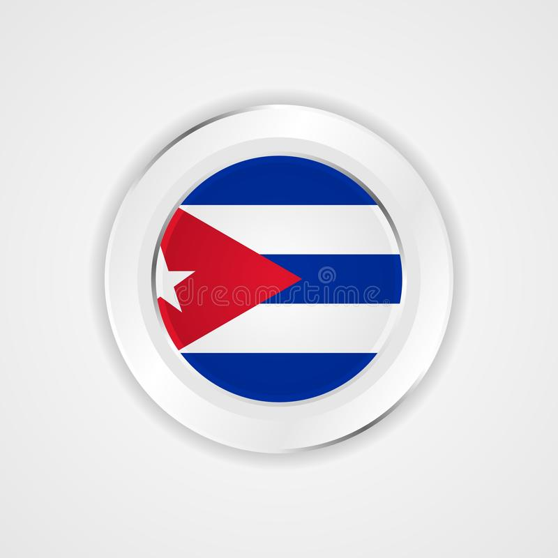 Kuba-Flagge in der glatten Ikone stock abbildung