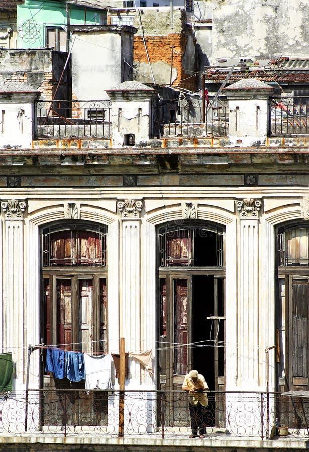 Kuba-Gebäude-Fassade lizenzfreies stockfoto