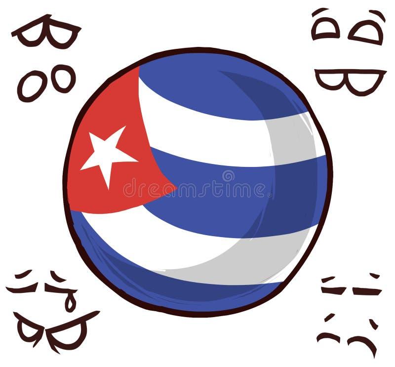 Kuba kraju piłka royalty ilustracja