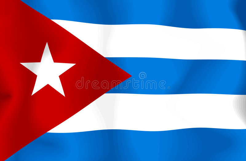 Kuba-Markierungsfahne vektor abbildung
