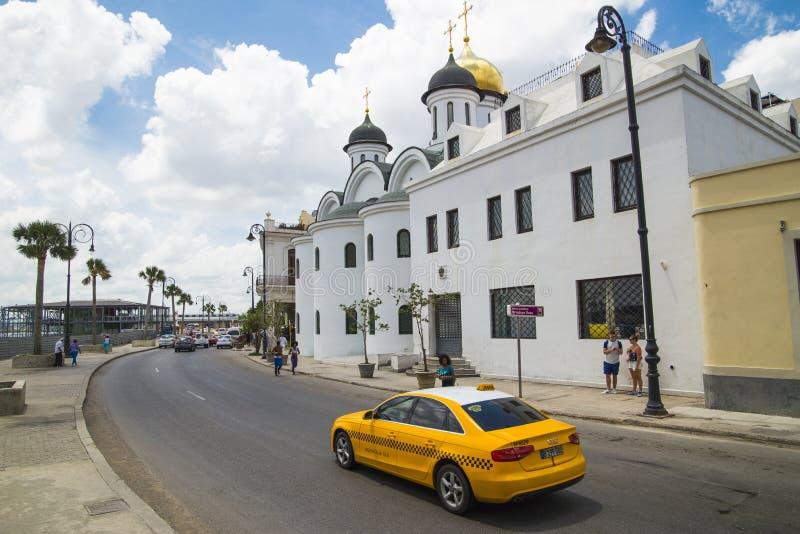 Kuba miasta Audi Hawańskich Starych samochodów Floryda Uliczny ruch drogowy fotografia stock