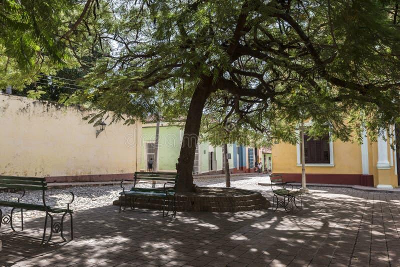 Kuba, Park in Trinidad lizenzfreie stockbilder