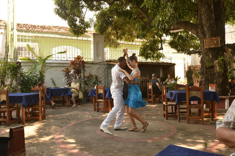 KUBA TRINIDAD tancerze zdjęcia stock