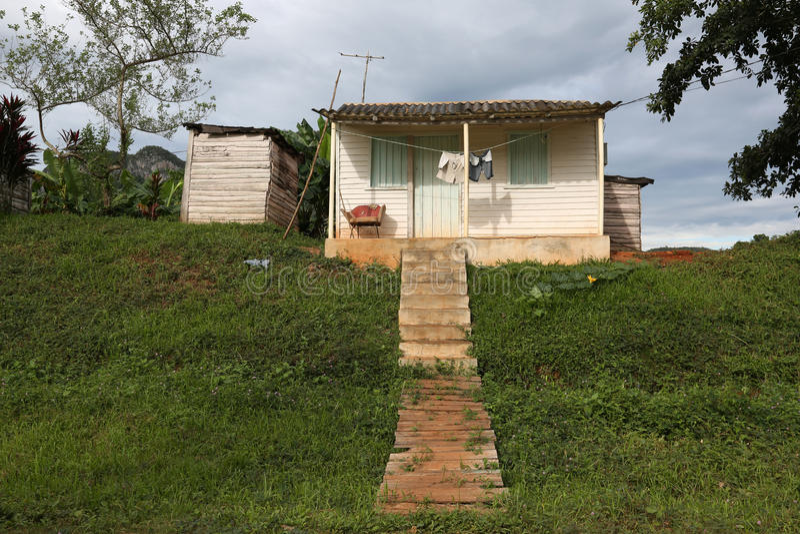 Kuba Vinales, gammal bungalow arkivfoton