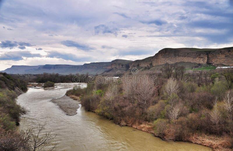 kuban morning river стоковая фотография rf