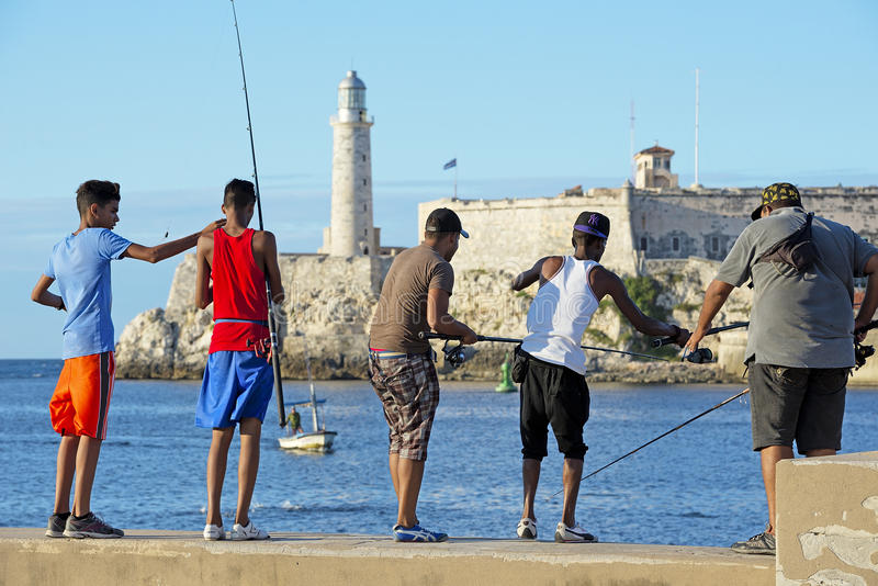 Kubanische Fischer stockbilder