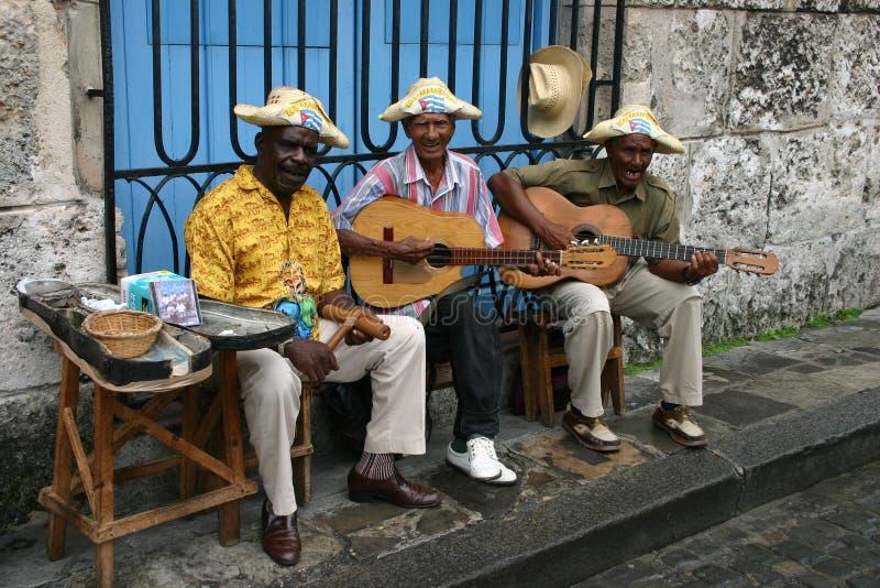 Kubanische Musiker stockbilder