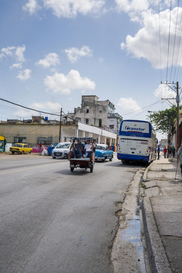 Kubanische Straßen-Szene stockbilder