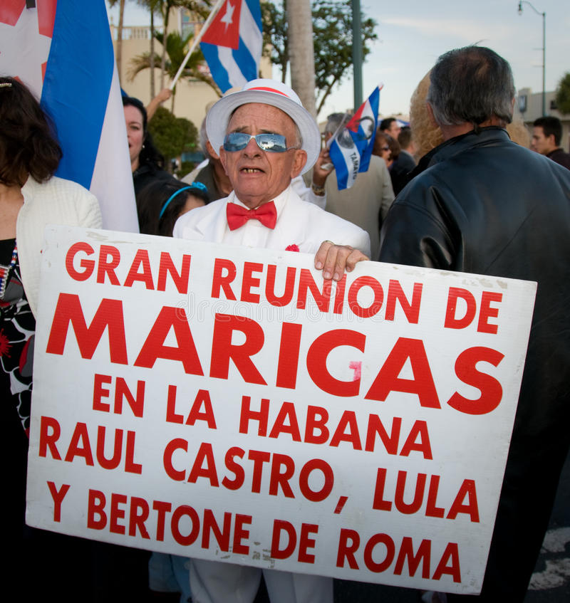 Kubanischer disidents Miamis Protest stockfoto