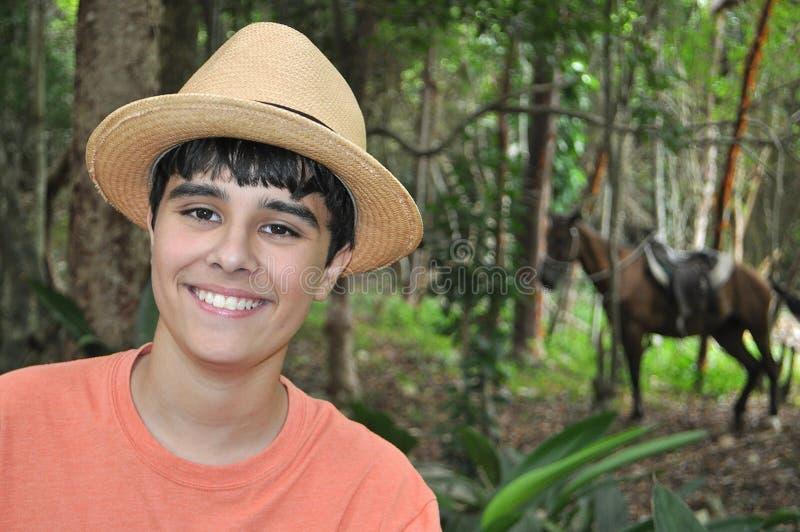 Kubanischer Junge lizenzfreies stockbild