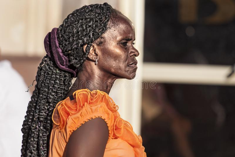 kubansk kvinna royaltyfri bild
