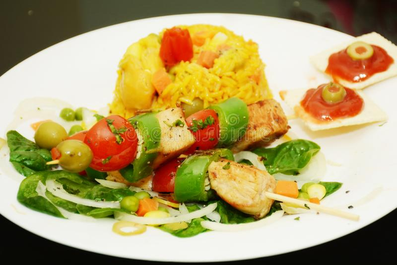 Kubansk mat med Brillants färger arkivbilder
