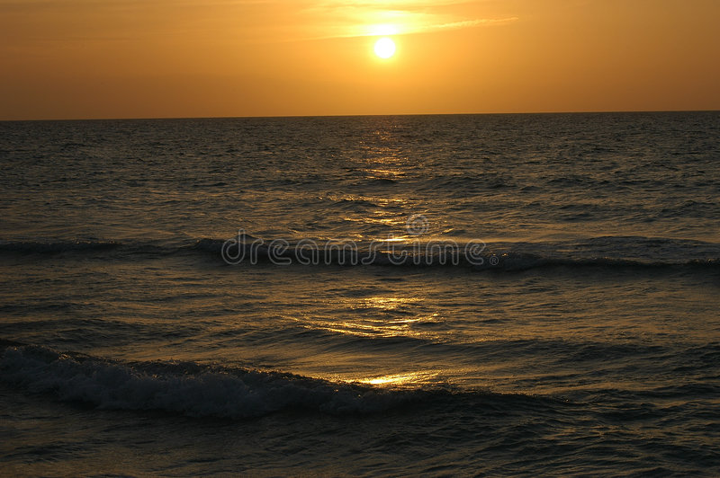 kubansk solnedgång royaltyfri bild