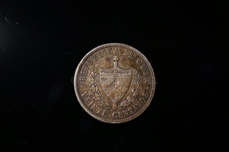 Kubanskt mynt för tappning arkivfoto