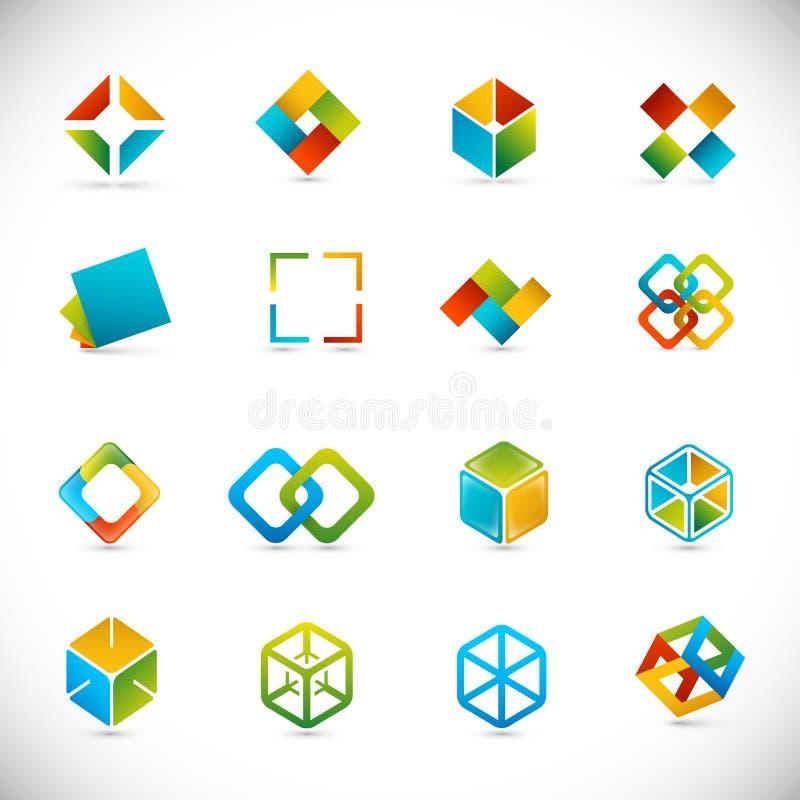 kubdesignelement stock illustrationer