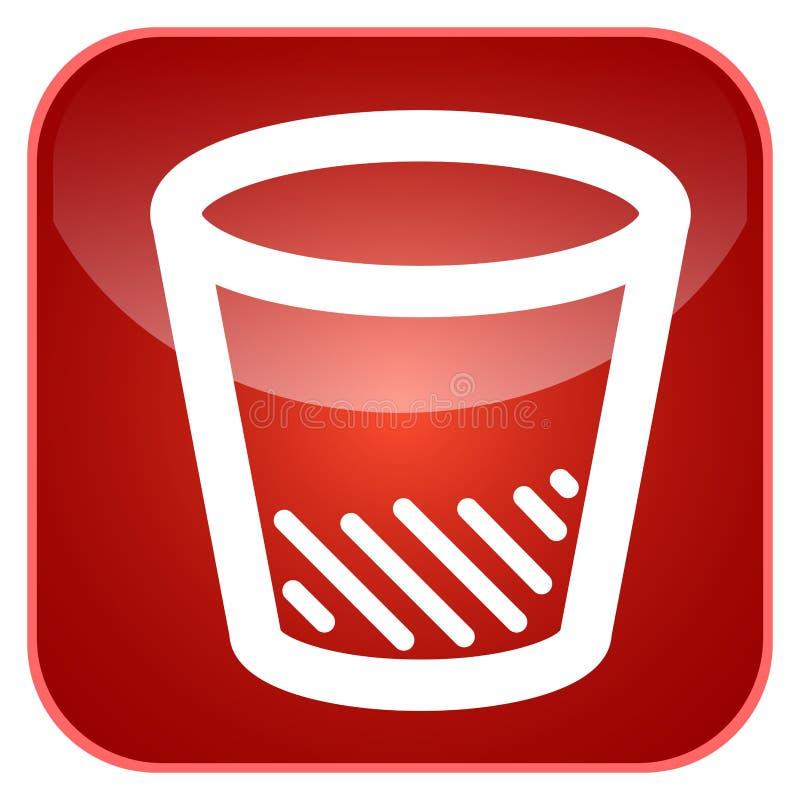Kubeł na śmieci app ikona royalty ilustracja