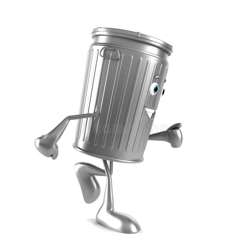 Download Kubeł na śmieci charakter ilustracji. Ilustracja złożonej z zbiornik - 28962575