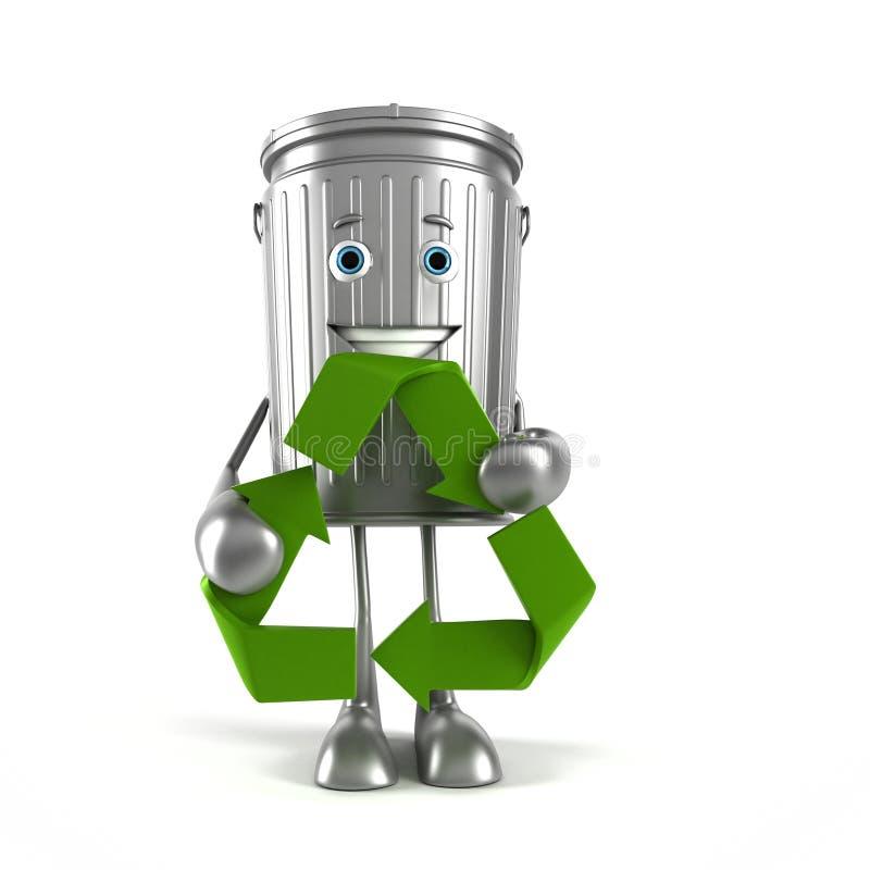 Download Kubeł na śmieci charakter ilustracji. Ilustracja złożonej z śmieci - 28962578
