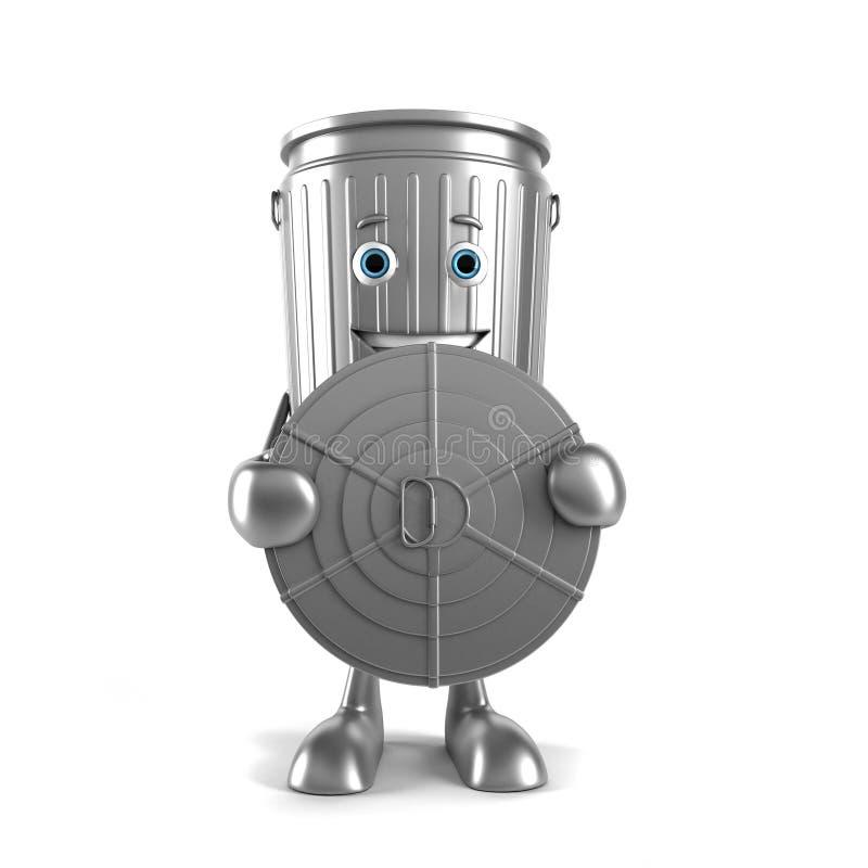 Download Kubeł na śmieci charakter ilustracji. Ilustracja złożonej z greenbacks - 28962580
