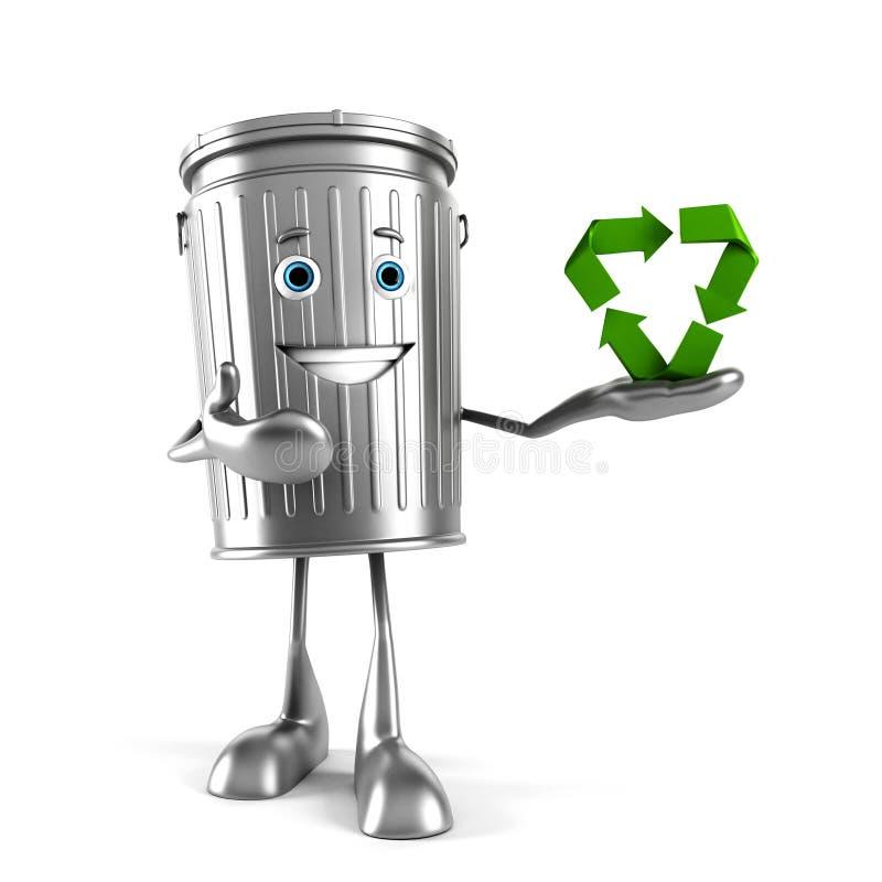 Download Kubeł na śmieci charakter ilustracji. Ilustracja złożonej z ilustracje - 28962582