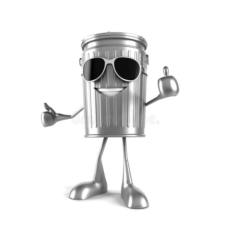 Download Kubeł na śmieci charakter ilustracji. Ilustracja złożonej z wiadro - 28962621