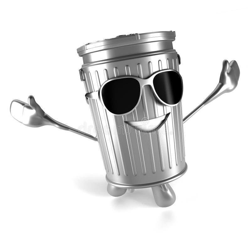 Download Kubeł na śmieci charakter ilustracji. Ilustracja złożonej z kosz - 28962622