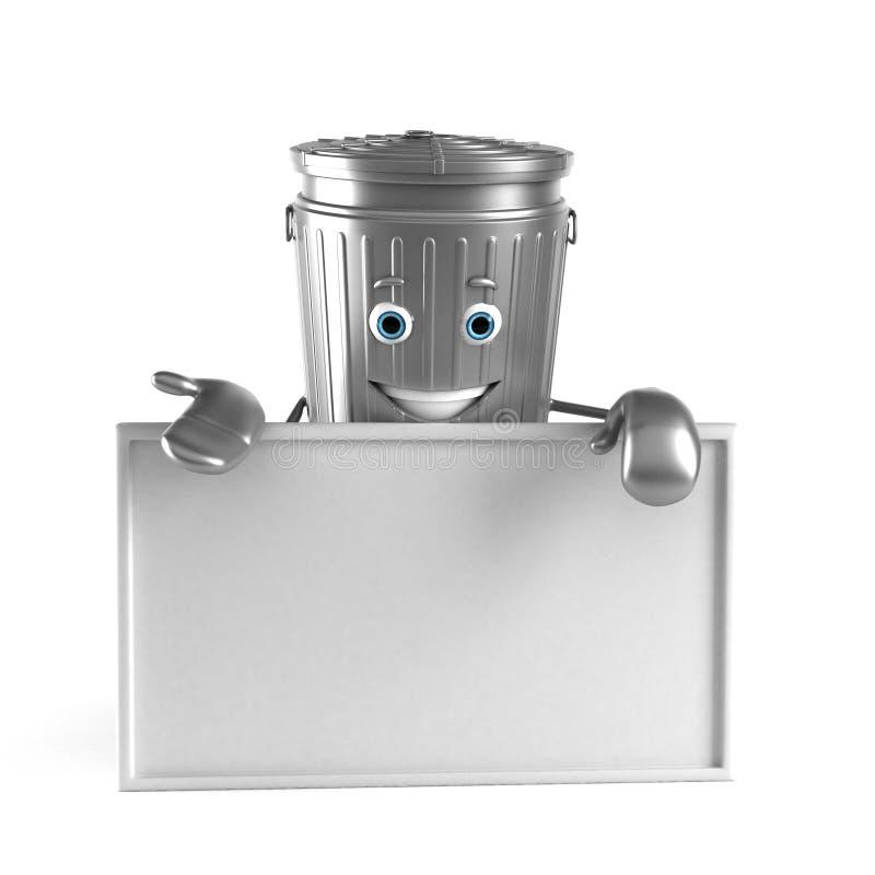 Download Kubeł na śmieci charakter ilustracji. Ilustracja złożonej z środowisko - 28962635