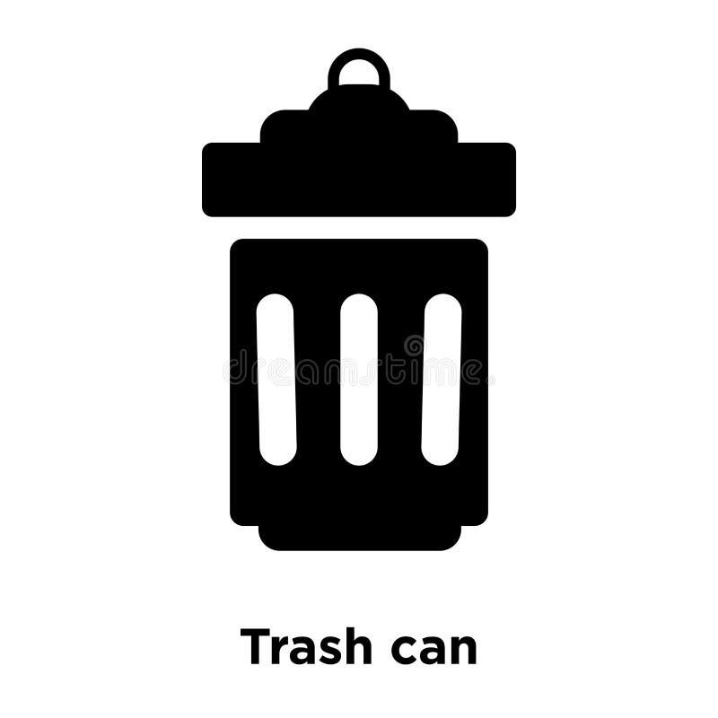 Kubeł na śmieci ikony wektor odizolowywający na białym tle, loga pojęcie royalty ilustracja