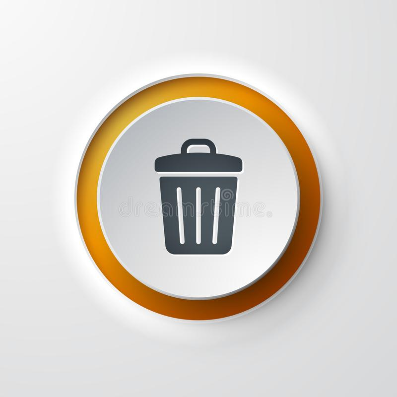 Kubeł na śmieci sieci ikona ilustracji