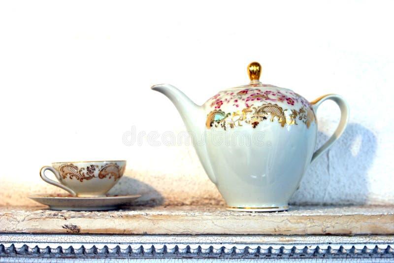 kubek herbaty trawy fotografia royalty free