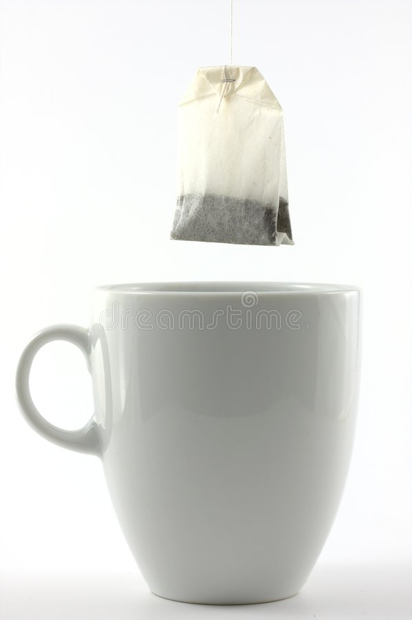 kubek herbaty z white obrazy royalty free