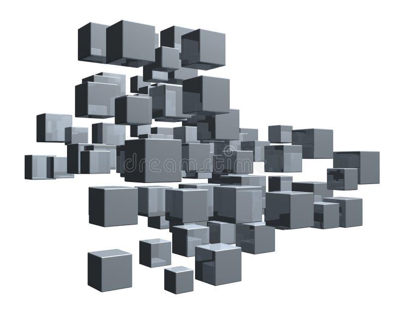 kuber vektor illustrationer