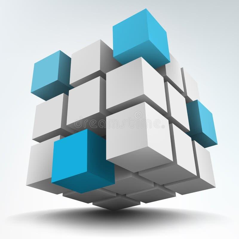 kuber 3d vektor illustrationer