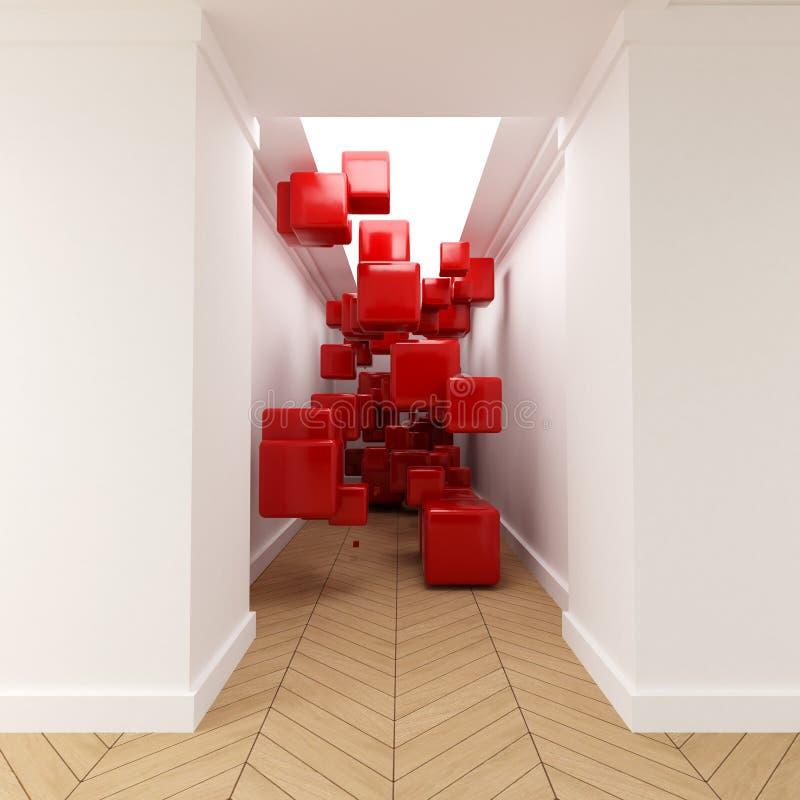 kuber passerar red vektor illustrationer
