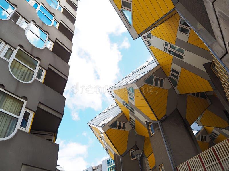 Kubhus i Rotterdam; Nederländerna arkivfoto