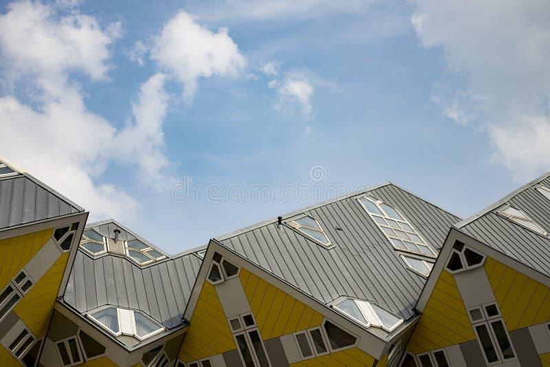 Kubhus - Rotterdam royaltyfria bilder
