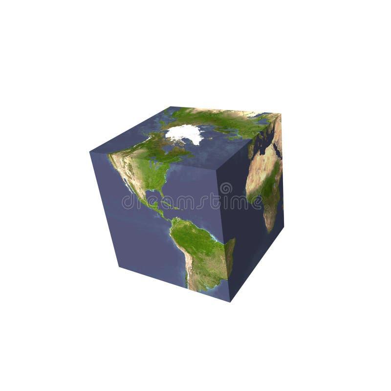 kubiczna ziemi ilustracja wektor
