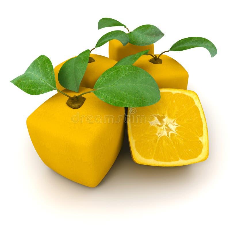 Download Kubiczne Grupowe Pomarańcze Ilustracji - Ilustracja złożonej z dziwny, owoc: 13332024