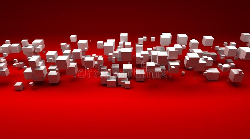 kubiczne tło cząsteczki royalty ilustracja