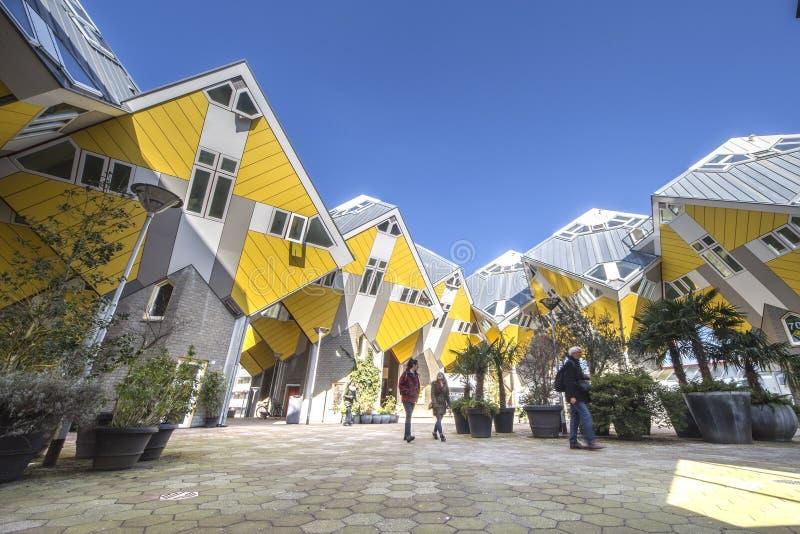 kubiczni domy Rotterdam obraz stock