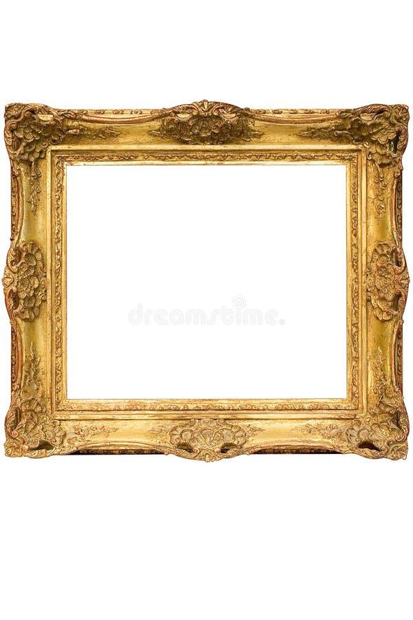 kubiczny ramowy ścieżka złota zdjęcie w matrycował drewnianego zdjęcia royalty free