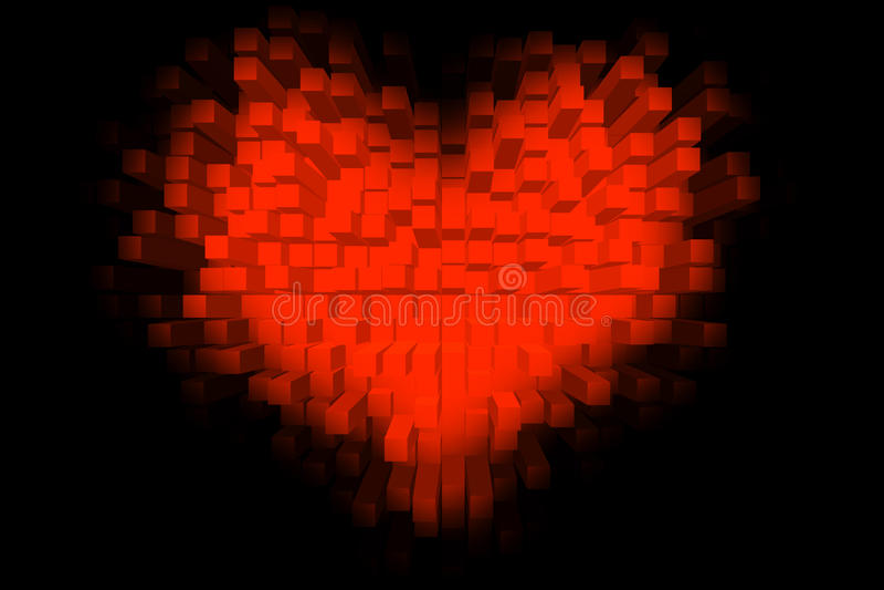 kubiczny serce zdjęcie royalty free