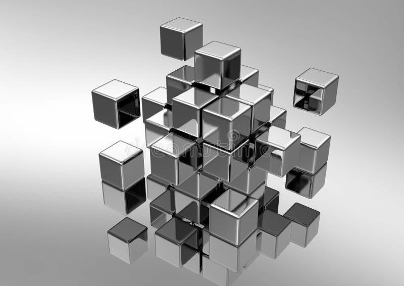 Kubiek Concept stock illustratie
